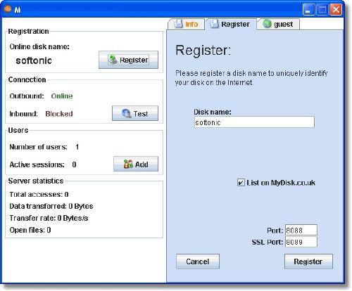 MyDisk: Comparte el contenido de tu disco duro a través de Internet
