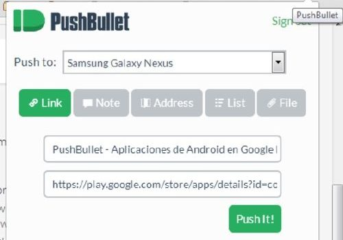 PushBullet: Comparte archivos de Android sin cables