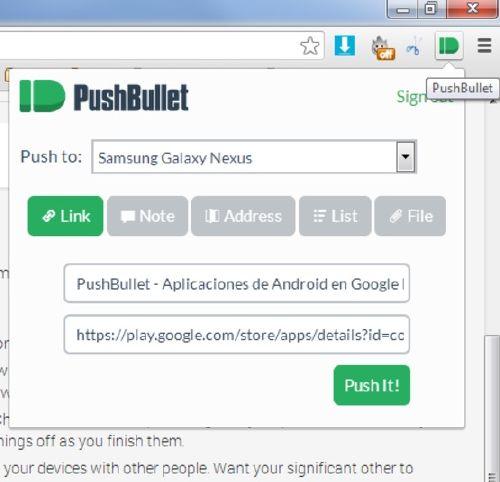 PushBullet: Comparte archivos de Android sin cables