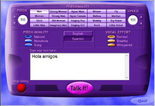 Talk It!: Reproduce cualquier texto con divertidas voces