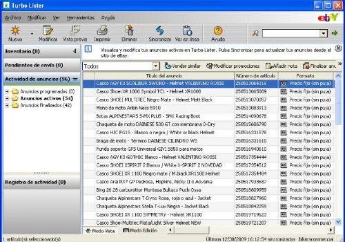 Turbo Lister: Acelera la publicación de anuncios en eBay