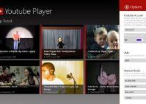 Diseño novedoso de YouTube, rediseñado para Windows 8
