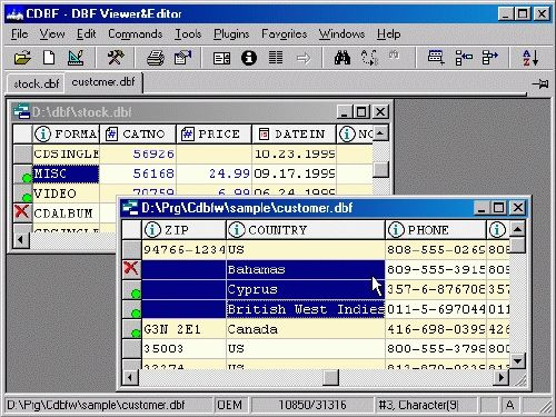 CDBF - DBF Viewer and Editor: Visualizador y editor DBF al instante