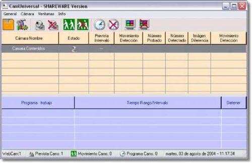 CamUniversal: Sistema buenazo para vigilancia mediante webcam