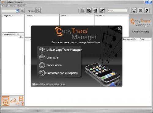 CopyTrans Manager: Mejor manera de Administrar tu música de tu iPod, iPad o iPhone