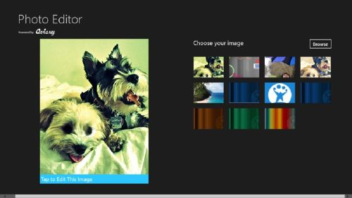 Photo Editor para Windows 8: Editor de fotos para pantallas táctiles
