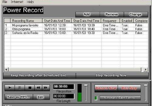 Power Record: Graba radio por Internet fácil