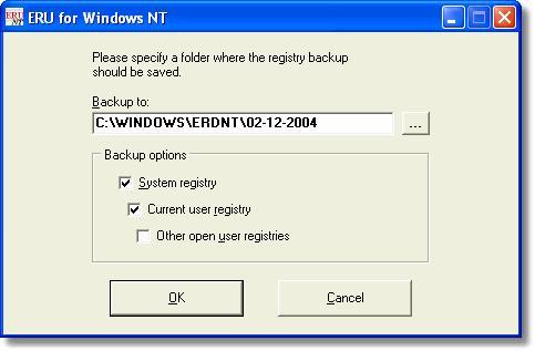 Erunt: Herramienta que crea una copia de seguridad del Registro de Windows
