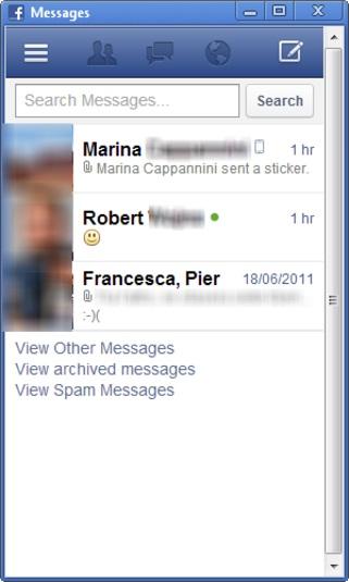 Facebook Messenger Descarga el mini-Facebook para el Escritorio