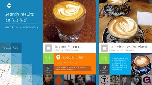 Foursquare para Windows 8