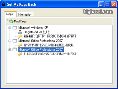 Get My Keys Back: Recupera en instantes los números de serie de Windows y Office