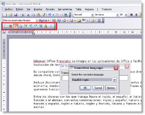 IdiomaX Office Translator: Traduce documentos y correos desde Office