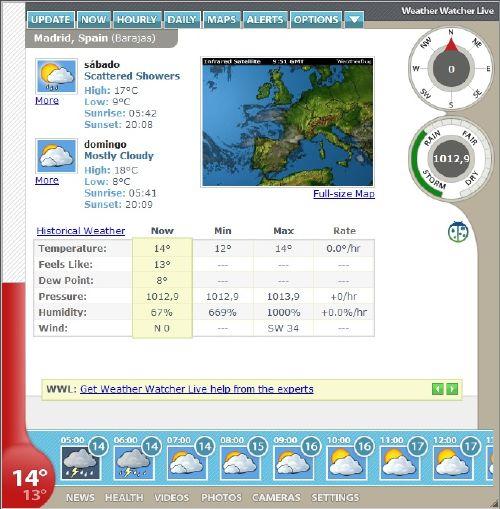 Weather Watcher Live: El tiempo meteorológico de cualquier ciudad al instante