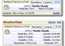 WeatherMate condiciones meteorológicas de 50.000 ciudades
