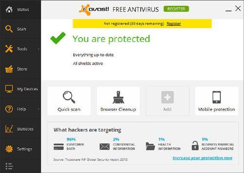 avast! Free Antivirus 2014 gratis bajar