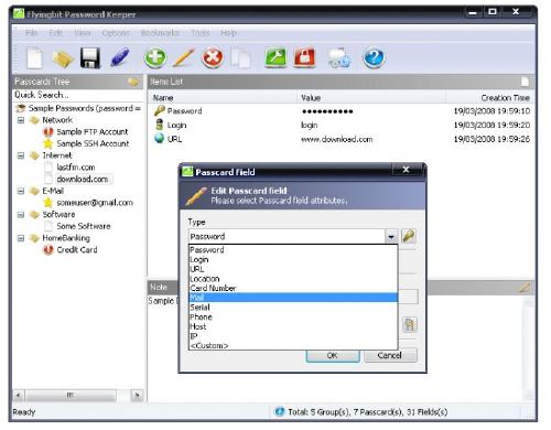 Crea una caja fuerte con FlyingBit Password Keeper