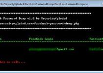 Facebook Password Dump recuperador contraseñas facebook