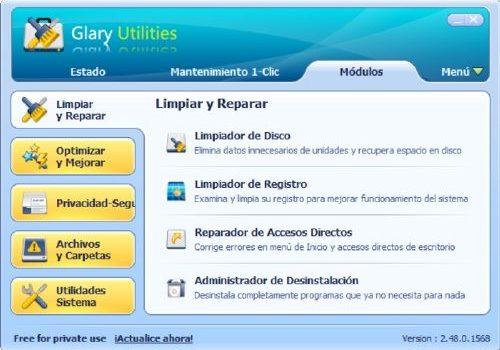 Glary Utilities: Mantenimiento de pc actualizado al 2014