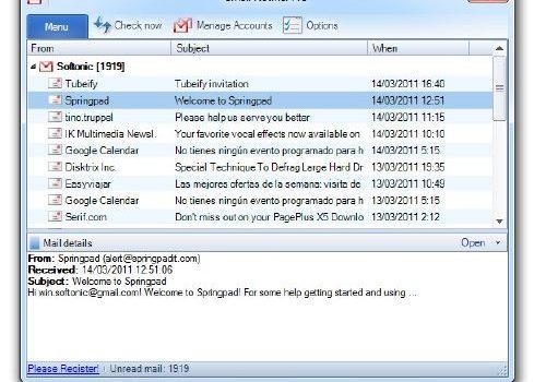 Gmail Notifier Pro: Ahora Gmail en tu Escritorio