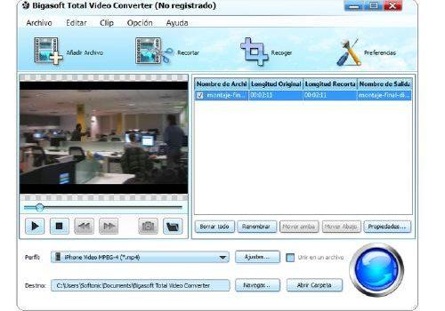 Cualquier vídeo para tus dispositivos portátiles