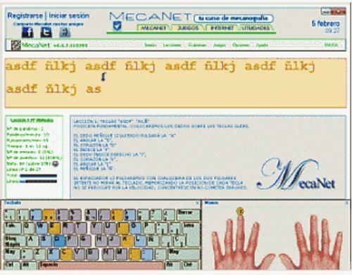 MecaNet: Aprende mecanografía en instantes con soltura y seguridad
