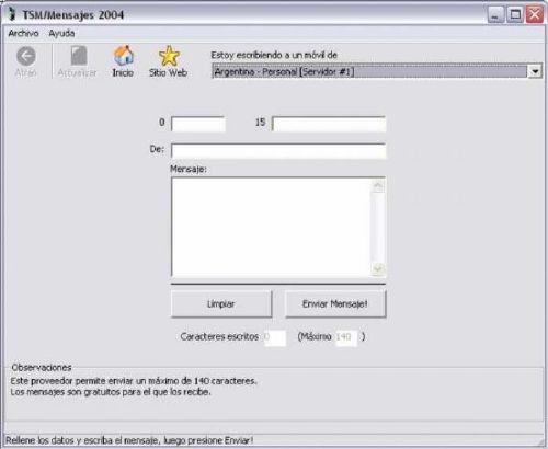TSM Mensajes: Envía mensajes gratis a móviles de Argentina y Venezuela