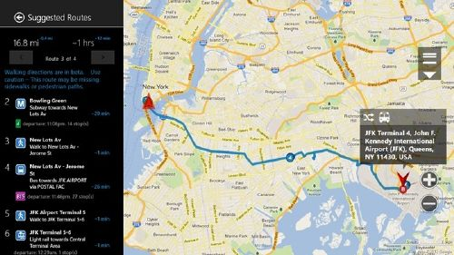 gMaps for Windows 8: Crea fácil recorridos con los mapas de Google