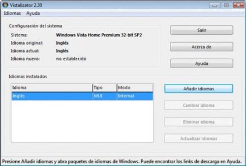 idioma windows 7
