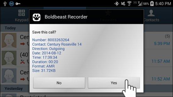 grabar llamadas android iphone