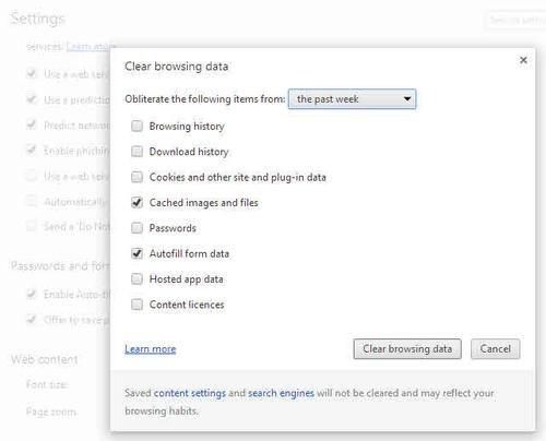 Cómo eliminar las cookies y el historial de navegación de Google Chrome