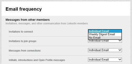 Como dejar de recibir notificaciones de LinkedIn