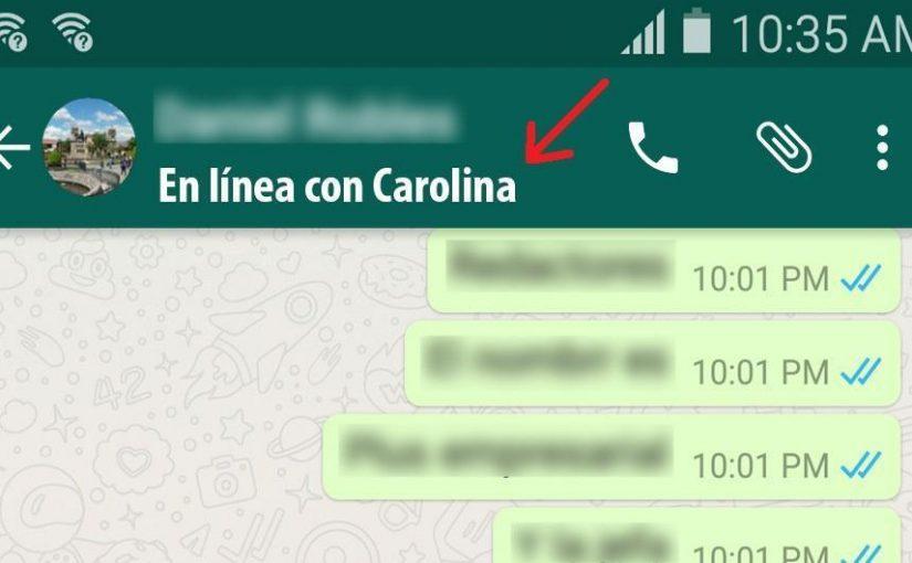 ¿Con quién está hablando? con este truco de WhatsApp lo sabrás